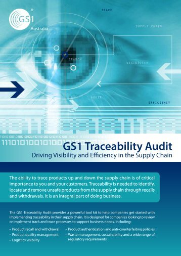 Download GS1 Traceability Audit Flyer - GS1 Australia