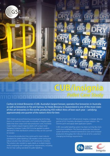 Download CUB/insignia Pallet labelling case study - GS1 Australia
