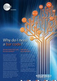 Do you need a bar code for your product? How does ... - GS1 Australia