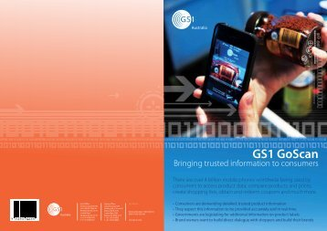 Download GS1 GoScan flyer- Bringing trusted ... - GS1 Australia