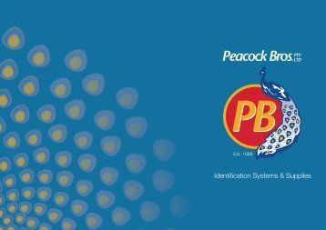 Peacock Bros Brochure - GS1 Australia