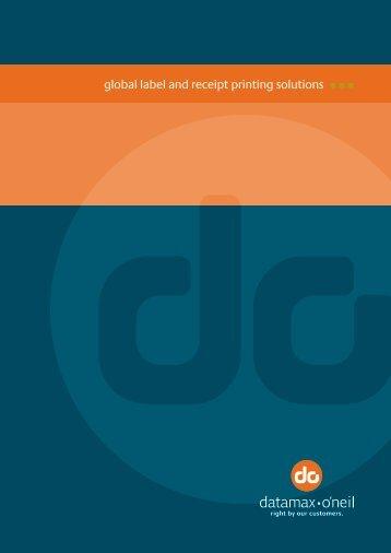 Datamax O'neil Brochure - GS1 Australia