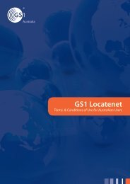 GS1 Locatenet Terms & Conditions of Use for ... - GS1 Australia
