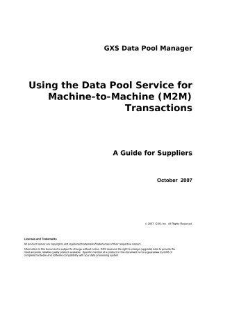 Using the Data Pool Service for Machine-to-Machine (M2M ...