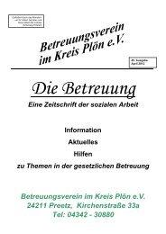 Die Betreuung Eine Zeitschrift der sozialen Arbeit Information ...