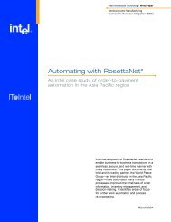 Automating with RosettaNet