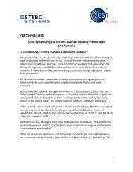 Stibo Systems Pty Ltd become Business Alliance ... - GS1 Australia