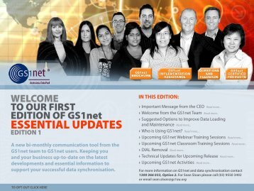 GS1net Essential Updates... - GS1 Australia