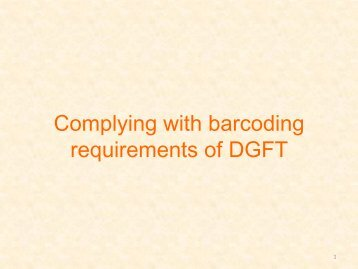Complying with barcoding requirements of DGFT - GS1 India