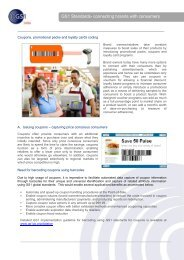 GS1 Standards- connecting brands with consumers - GS1 India