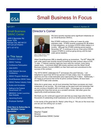 gsa small business reporting reports