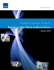 Reimbursable Work Authorizations - GSA