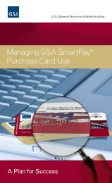 Managing GSA SmartPay® Purchase Card Use