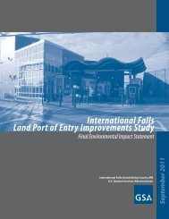International Falls Land Port of Entry Improvements Study - GSA