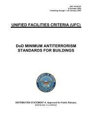 Unified facilities criteria - GSA