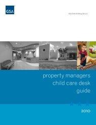 Property Manager's Child Care Desk Guide - GSA