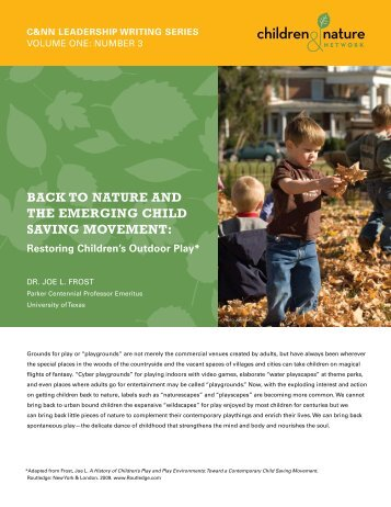 back to nature and the emerging child saving movement - GSA