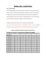 Section 12A – Transit Times - GSA