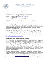 August 11, 2008 M-08-22 MEMORANDUM FOR ... - The White House