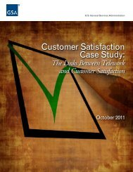 Customer Satisfaction Case Study: - GSA