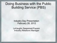 Doing Business with the Public Building Service (PBS) - GSA
