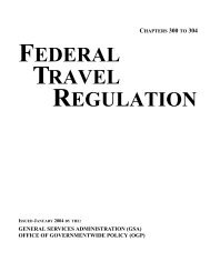FEDERAL TRAVEL REGULATION - GSA