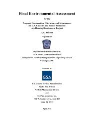 US Customs and Border Protection Ajo Housing Development ... - GSA