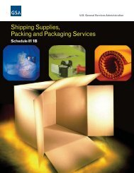 Shipping Supplies, Packing And Packaging Services - GSA Advantage