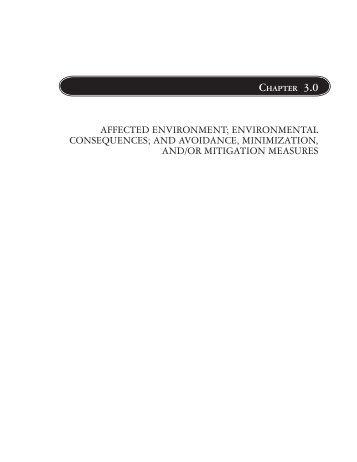 affected environment; environmental consequences - GSA