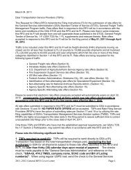 2011-2012 General RFO Cover Letter Page 1 1. TSPs ... - GSA
