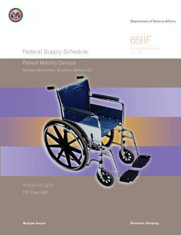 Includes Wheelchairs, Scooters, Walkers, Etc. - GSA Advantage