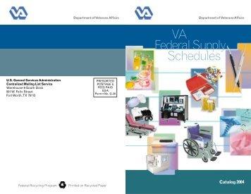 VA Federal Supply Schedules - GSA Advantage