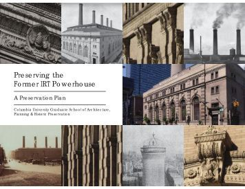 Preserving the Former IRT Powerhouse - Columbia University ...
