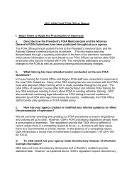 2011 GSA Chief FOIA Officer Report I. Steps Taken to Apply the ...