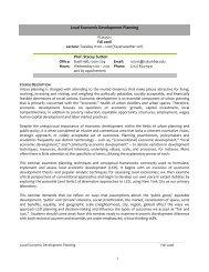 Local Economic Development - Columbia University Graduate ...