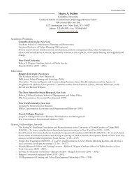 Curriculum Vitae - Columbia University Graduate School of ...