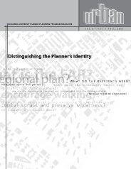 Distinguishing the Planner's Identity - Columbia University Graduate ...