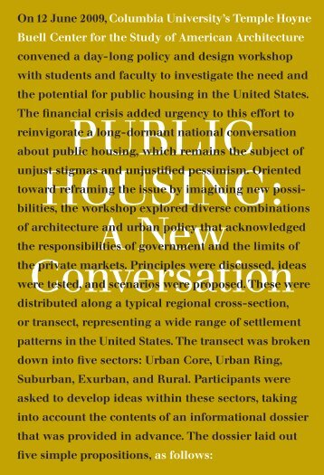 Public Housing: - Temple Hoyne Buell Center for the Study of ...