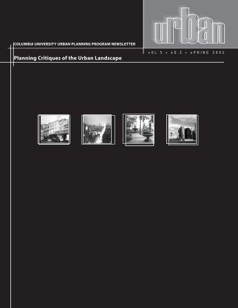 Planning Critiques of the Urban Landscape - Columbia University ...