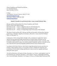 Handel's Messiah to be performed in three venues around Flathead ...