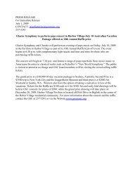 Glacier Symphony to perform pops concert in Harbor Village July 10 ...