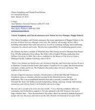 Glacier Symphony and Chorale announces new Patron Services ...