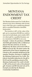 montana endowment tax credit - Glacier Symphony & Chorale