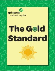 The Gold Standard - Girl Scout Council of the Nation's Capital