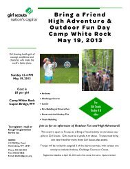 Bring a Friend High Adventure & Outdoor Fun Day - Girl Scout ...