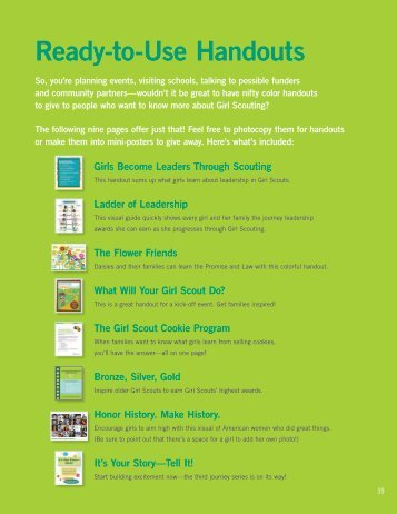 Ready-to-Use Handouts - Girl Scout Council of the Nation's Capital