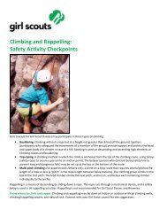 Climbing and Rappelling - Girl Scout Council of the Nation's Capital