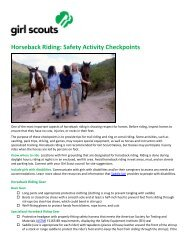 Horseback Riding - Girl Scout Council of the Nation's Capital
