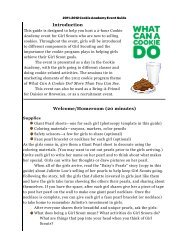 Cookie Academy Event Guide - Girl Scout Council of the Nation's ...