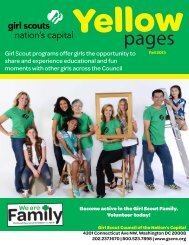 Yellow Pages - Girl Scout Council of the Nation's Capital